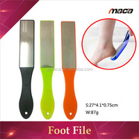FF1274 high quality disposable stainless steel pedicure foot file with plastic long handle