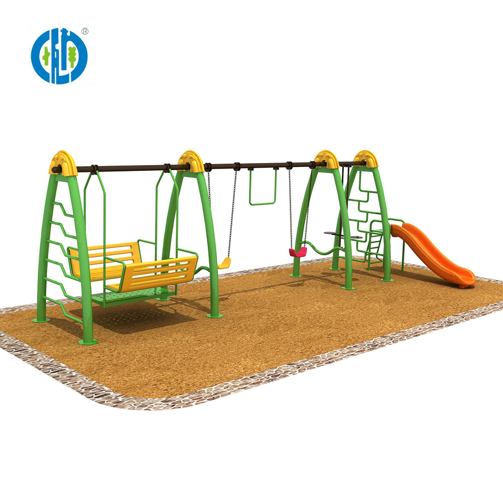 2018 newly design children swing playground, kids interesting swing and slide outdoor