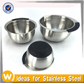 Set of Stainless Steel Salad Bowl With handle
