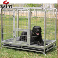 Top Promotion Galvanized Steel Dog Cage Trolley / Double Dog Kennel