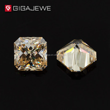 GIGAJEWE Moissanite Yellowish Color Radiant Cut Synthetic Diamond Loose Moissanite Gem Stones For Jewelry Stone
