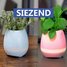 New Design Creative Pots Smart Music Flower Pots LED Dancing Plastic Flower Pot with Bluetooth Speaker