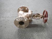 GB standard flange end bronze stop check valve for marine use