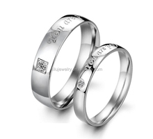 Zilu adjustable custom couples engraved promise engagement ring