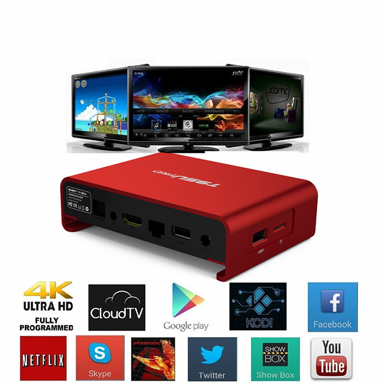 Beautiful appearance Amlogic S912 Octa core Bluetooth 4.0 T95U Pro smart android tv box