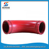 Trailer Pump Parts Casting 30Degree Concrete Pump Elbow for Zoomlion Concrete Pipe Joint