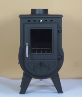 Cast Iron Glass Door Wood Burning Stove /Parts/ heating area 90-300sqm