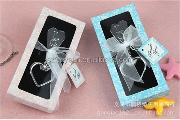 LOVE Bottle Opener with Gift Box Heart Shape weding favour