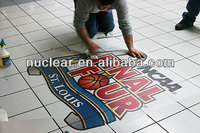 high quality transparent matt floor graphic vinyl