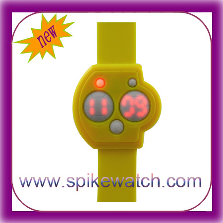 Stylish Children's Day Gift LED Customized Silicon Flashing Kids Watches