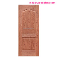 sapele melamined size 2150* 950mm 3mm thickness with veneer or melamine paper faced HDF door skin