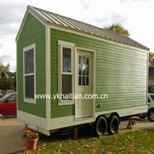 20ft or 40ft prefabricated shipping container custom-made caravan on wheels with bathroom