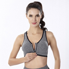 Women's quick-dry latest front zipper design shockproof sport bra for yoga,gym ladies