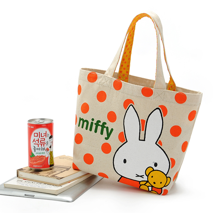 Durable in use hot sale plain mini canvas tote bags
