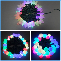 outdoor holiday lighting Christmas rgb color changing LED ball string light