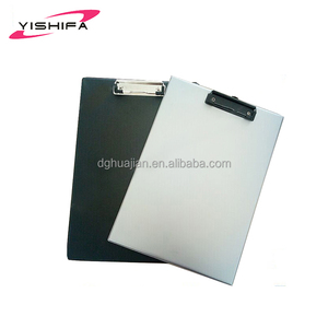 High quality A4 hardcover plastic file sliding folder clip conference folder with metal clip from Dongguan Manufacturer