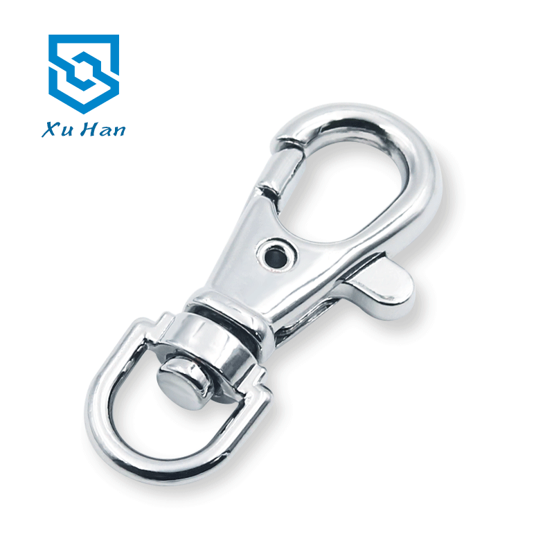 High quality metal <strong>d</strong> ring swivel lobster clasp hook for handbags