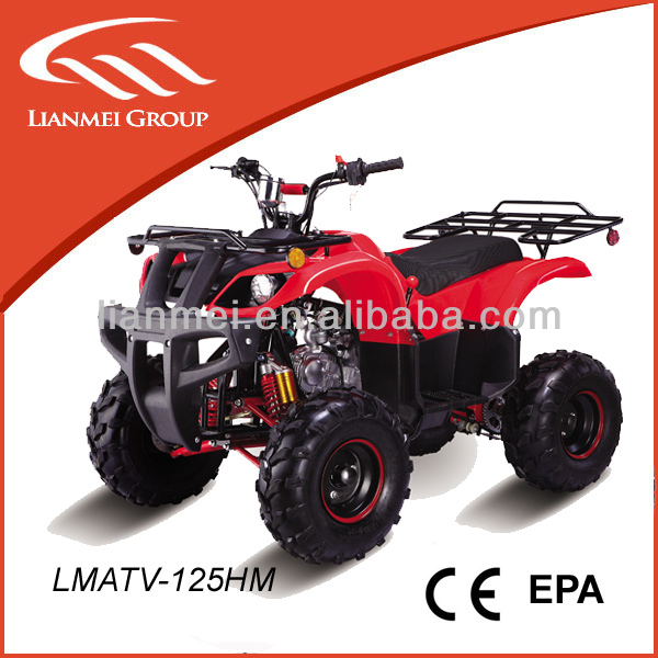 125cc adult atv grizzly atv with 3 gears