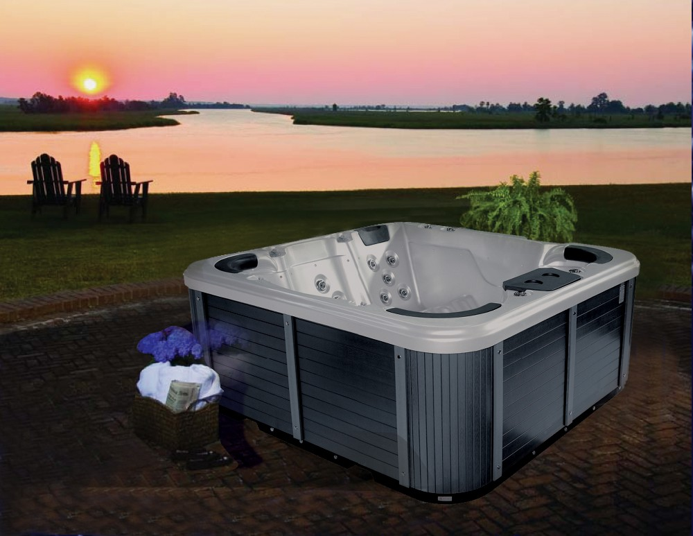 6 People Free Standing Rectangle Outdoor Acrylic Portable Spa Commercial Hot Tub with sex massage