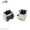 Hot sale 8p modular jack semi-shield socket RJ45 connector with LED light