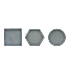 Handmade Decorative Small Round Square Cement Storage Trays
