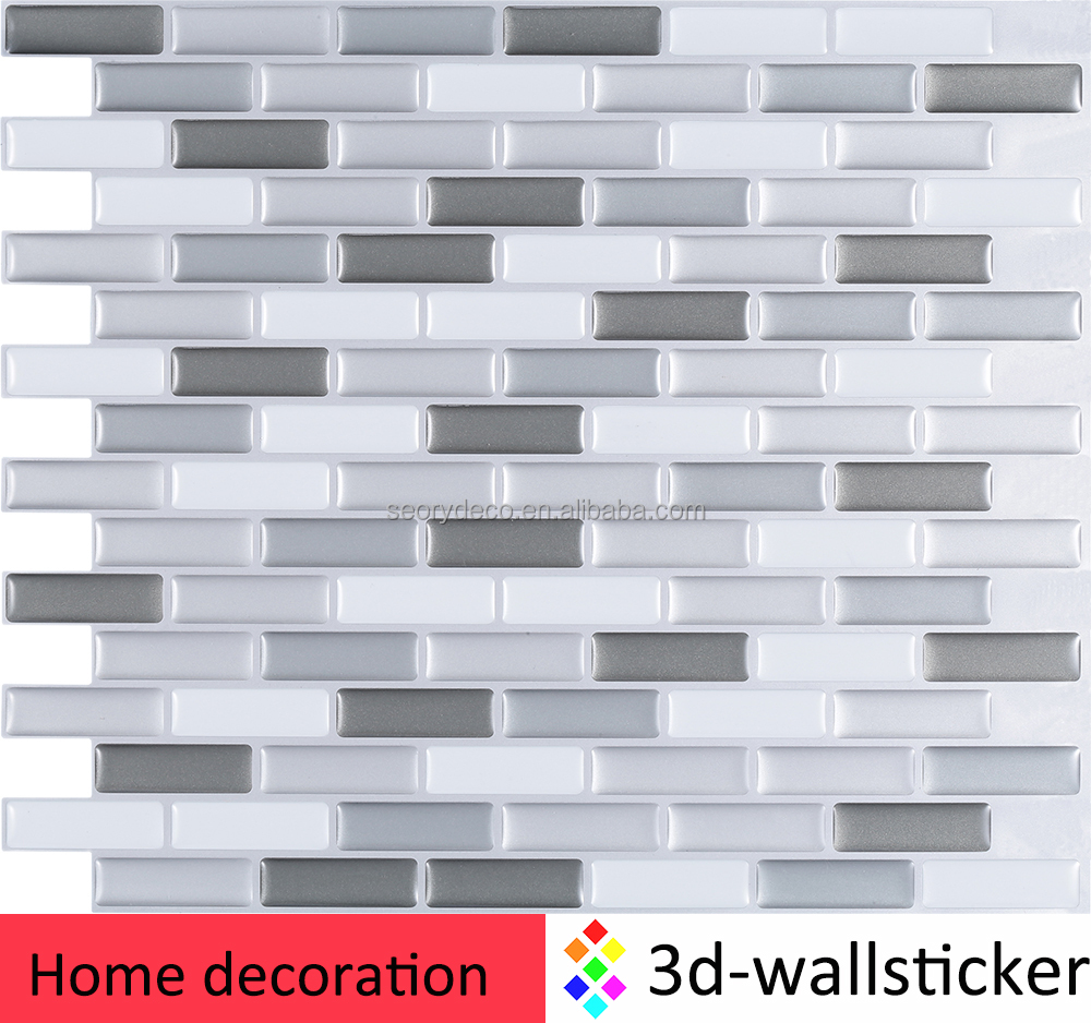 Alibaba hot products self adhesive mosaic design 3d tv background vinyl wall paper