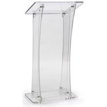 Easy Assembly Collapsible Design Clear Acrylic Podium for Floor