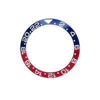 Quality Ceramic Blue/Red Pepsi Watch Bezel Insert made for GMT-Master II