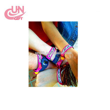 Manufacturer Trade Assurance Custom Festival Woven Fabric Wristband For Activity