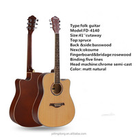 41''spruce + basswood folk guitar