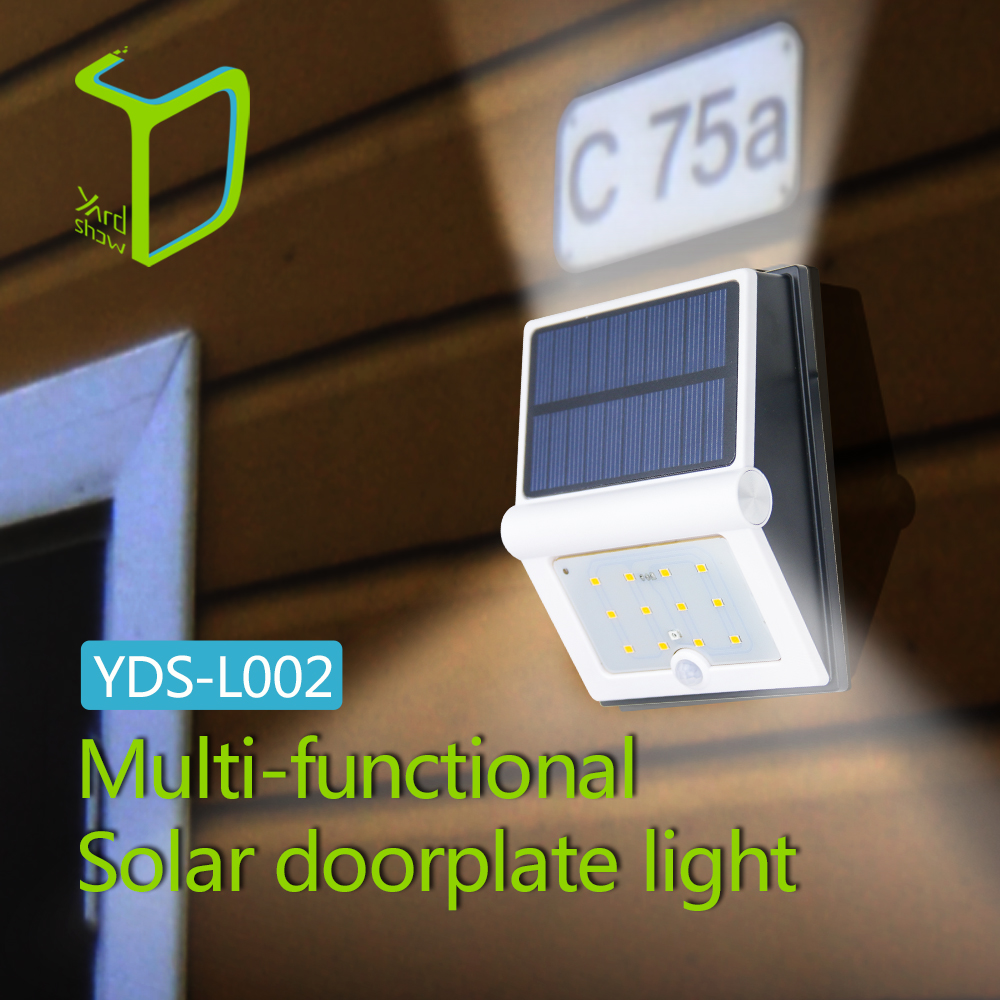 Yardshow IP44 Waterproof LED Solar Outdoor Spotlight Wall Light