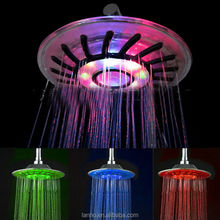 "2016 new high quality 8"" RGB LED Colorful Color Light Rain Top Round Shower Head"