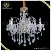 2015 hot sale modern style white glass lamp body with crystal candle chandelier light