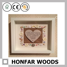 Honfar Wholesales Wood Frame Wood Shadow Box Frame with CE certification