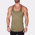 Wholesale Fitness Mens Tank Tops Customized Printing Gym Sports Clothes