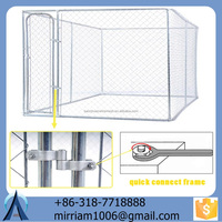 dogs use galvanized welded dog kennels and chain link dog cages/black dog kennel