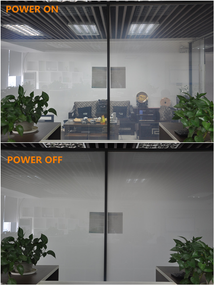 Huahui Self adhesive switchable smart film laminated windows glass temple in furniture for building glass