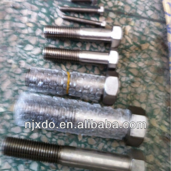 avesta 254smo nut bolt steel 1.4571 uns s31254 6mo screws and bolts hex head bolt dimensions