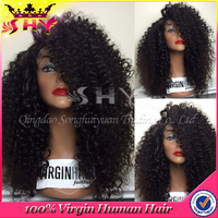 Wholesale human hair afro kinky curly 200% density full lace wig