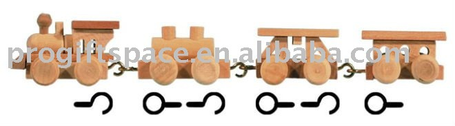 Mini Wooden Train Crafts