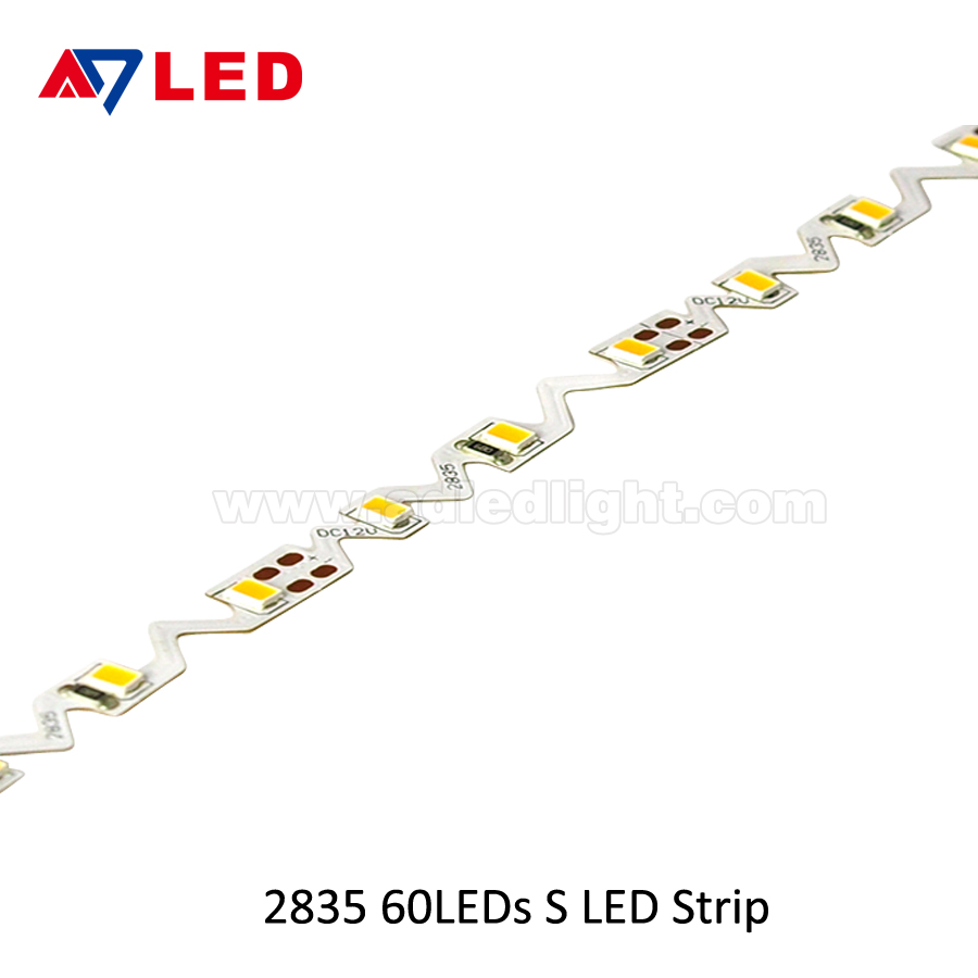 Silicone Tube DC12V 24V flexible tape light S shape led strip for panel light