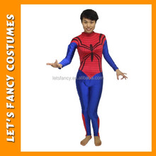 PGWC2479 hot selling deluxe adult red spiderman costume for women