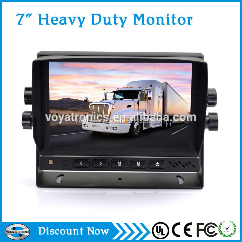 "7"" 24v lcd advertising bus coach monitor with IR,VGA/TV tunner"