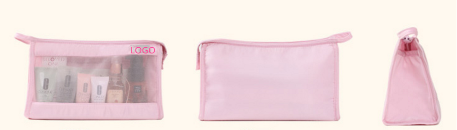 Wholesale lovely pink convenient popular cosmetic bag
