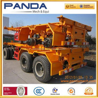 Pandamech 20'' twins skeleton trailer two axle skeleton trailer 2 axle skeleton trailer with bogie suspension for port use