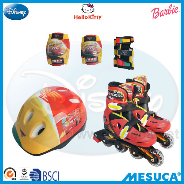 Disney 4 Wheels ADJUSTABLE INLINE SKATE COMBO SET DCY11063-F