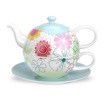 Sunflower blossom wholesale price restaurant teapot and cup / tea for one set