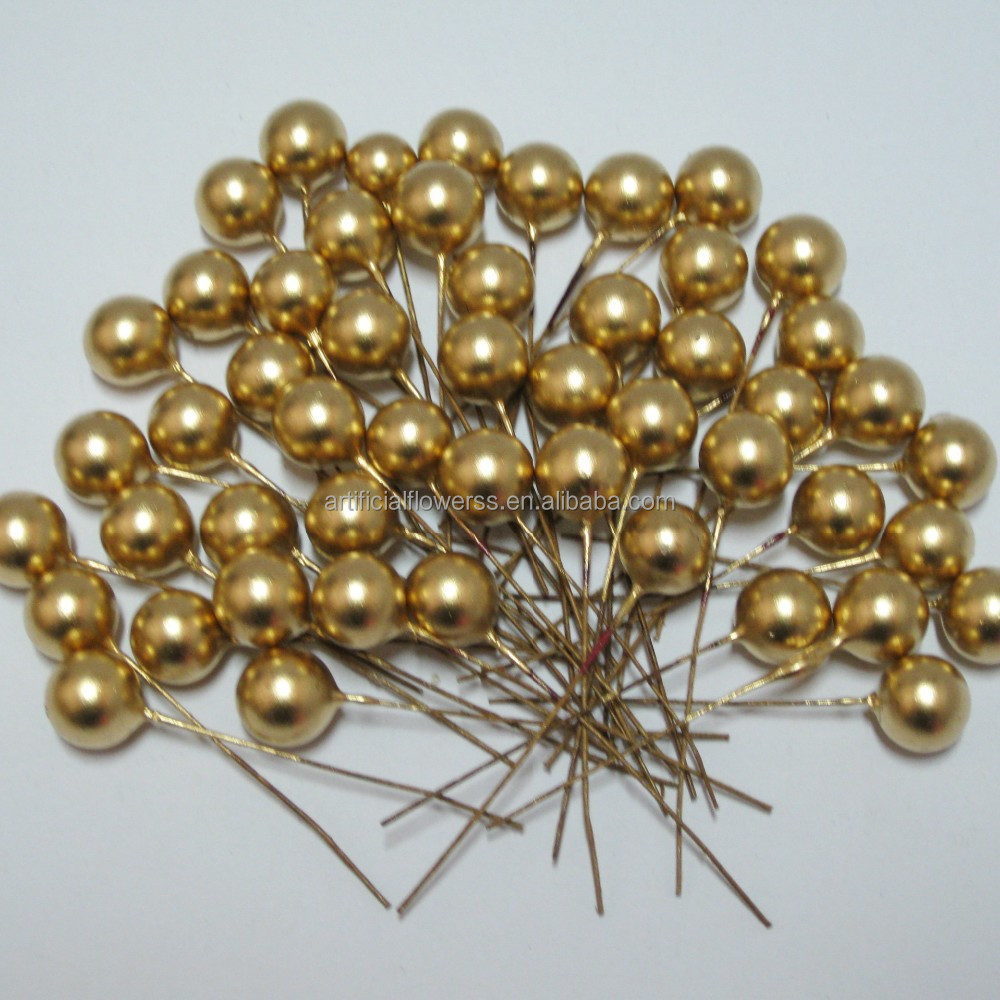 factory direct sales gold artificial Christmas berries <strong>decoration</strong>