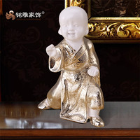Resin boy figurines for home decoration inner monk polyresin kungfu boy statue