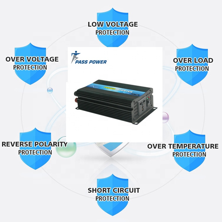 500W 48V 120V Hot selling Good Price intelligent dc/ac Soft Start Power Inverter